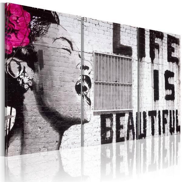 Obraz - Szczęśliwa dewiza (60x30 cm) A0-N1970