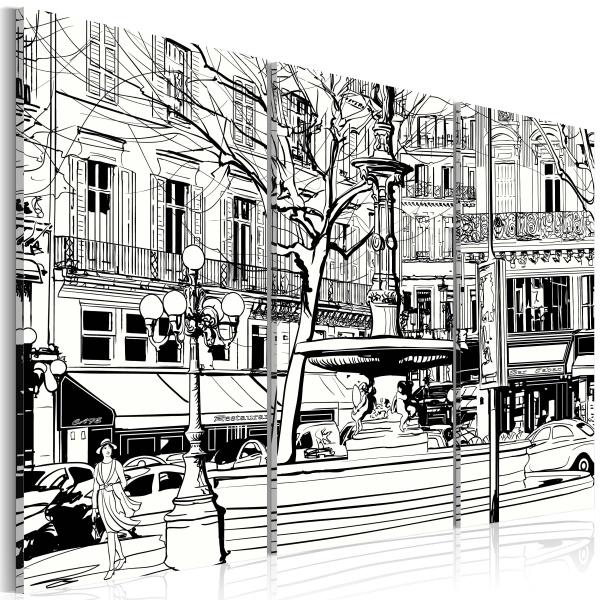 Obraz - Szkic paryskiego skweru (60x40 cm) A0-N1848