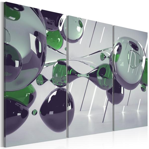 Obraz - Szklana mistyfikacja - tryptyk (60x40 cm) A0-N2336