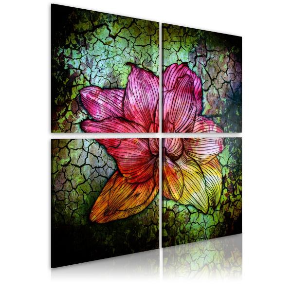 Obraz - Szklany kwiat (40x40 cm) A0-N1967