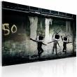 Obraz - Taniec telewizyjnych głów (Banksy) A0-N1794
