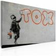 Obraz - Tapeta graffiti (Banksy) A0-N1808