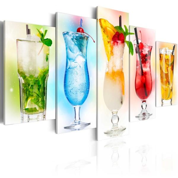 Obraz - Tęczowe drinki (100x50 cm) A0-N3073