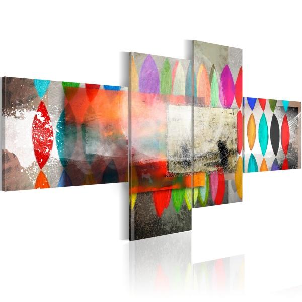 Obraz - Tęczowe warkocze (100x45 cm) A0-N2684