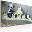 Obraz - Tesco, zamek z piasku (Banksy) A0-N1796