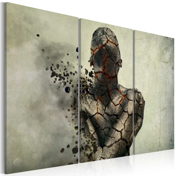 Obraz - The man of stone - triptych (60x40 cm) A0-N2219