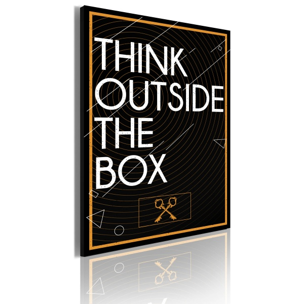 Obraz - Think outside the box (50x70 cm) A0-OBRPLK14