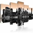 Obraz - Tonący Nowy Jork - 5 części A0-N1829