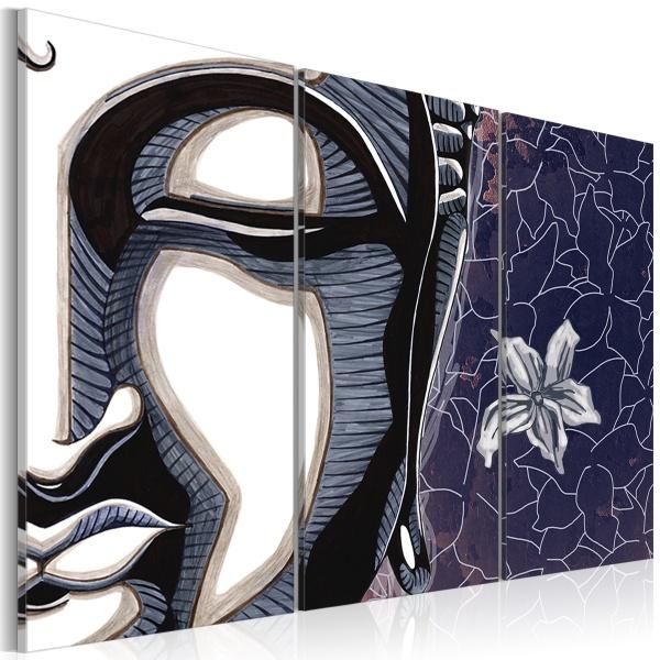 Obraz - Tryptyk, Budda i kwiat lotosu (60x40 cm) A0-N2224