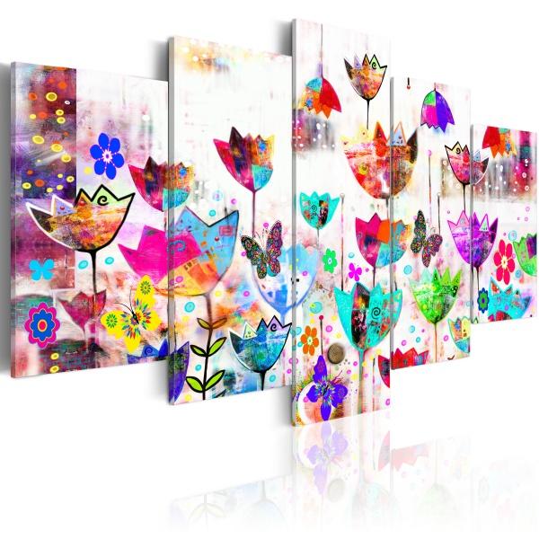 Obraz - Tulipany w deszczu (100x50 cm) A0-N2912