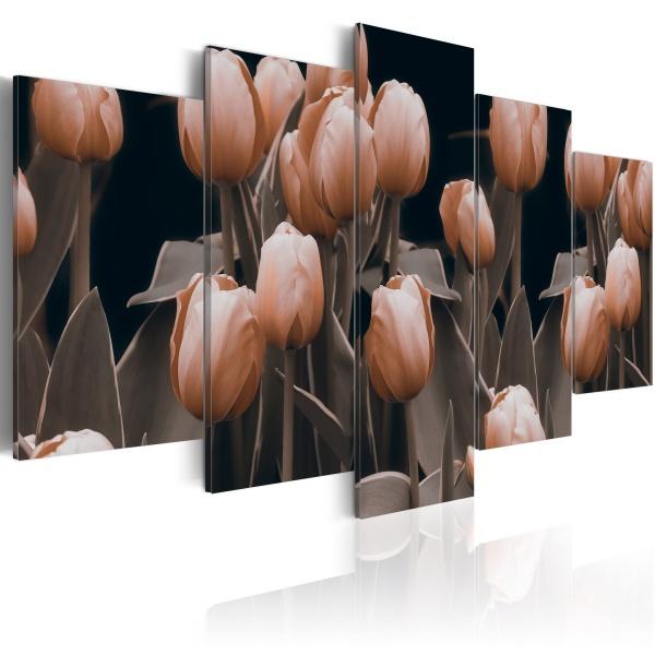 Obraz - Tulipany w sepii (100x50 cm) A0-N2378