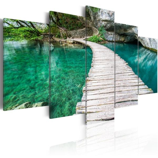 Obraz - Turkusowe jezioro (100x50 cm) A0-N2837