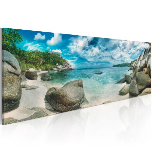 Obraz - Turkusowy raj (120x40 cm) A0-N3881