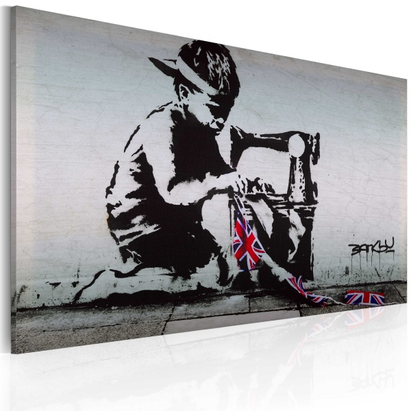 Obraz - Union Jack Kid (Banksy) (60x40 cm) A0-N1867
