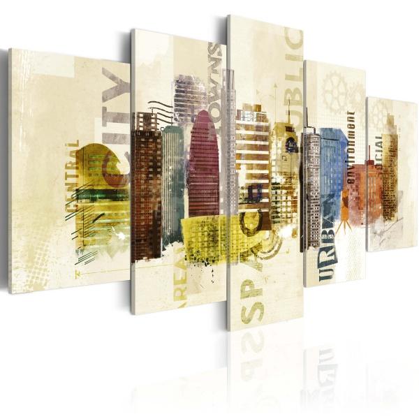 Obraz - Urban design - 5 części (100x50 cm) A0-N2749
