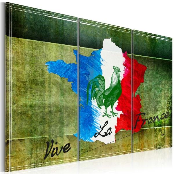 Obraz - Vive la France - tryptyk (60x40 cm) A0-N2120