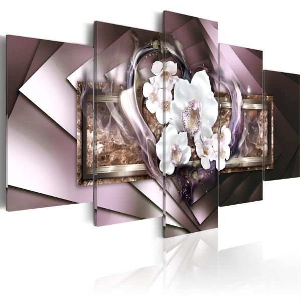 Obraz - W płomieniach - szary (100x50 cm) A0-N2957