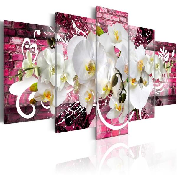 Obraz - Wariacja na temat orchidei (100x50 cm) A0-N2791