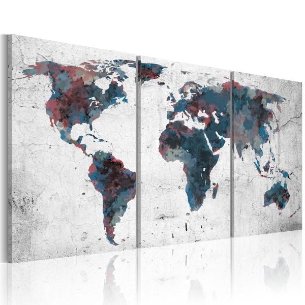 Obraz - Wędrówka kontynentów (60x30 cm) A0-N2083