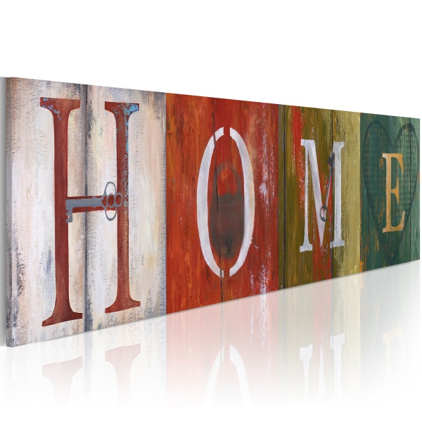Obraz - Welcome home! (120x40 cm) A0-N2562