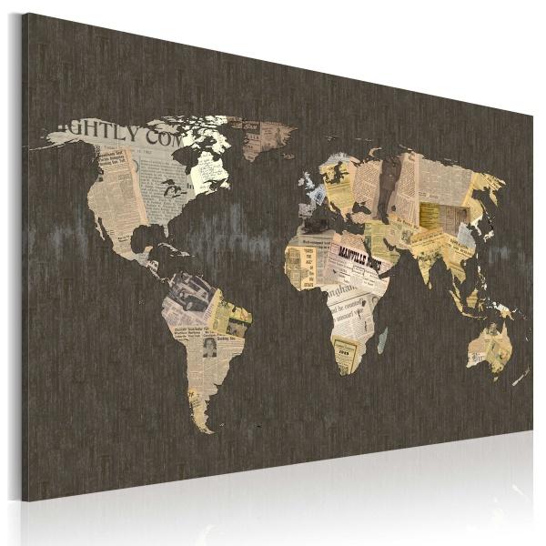 Obraz - Wiadomości ze świata (60x40 cm) A0-N2155