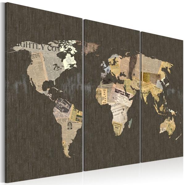 Obraz - Wiadomości ze świata - tryptyk (60x40 cm) A0-N2104