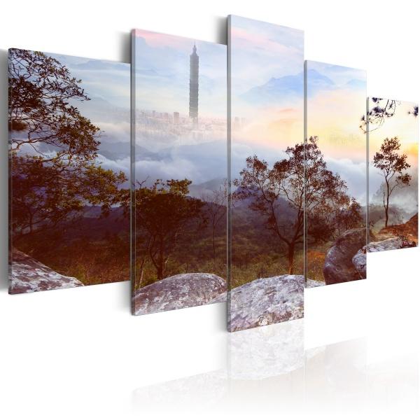 Obraz - Wieża i horyzont (100x50 cm) A0-N2314
