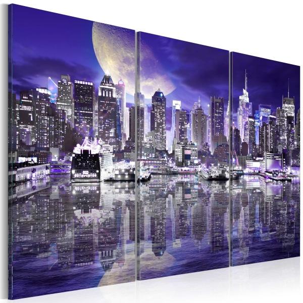 Obraz - Wieżowce nocą (60x40 cm) A0-N3096