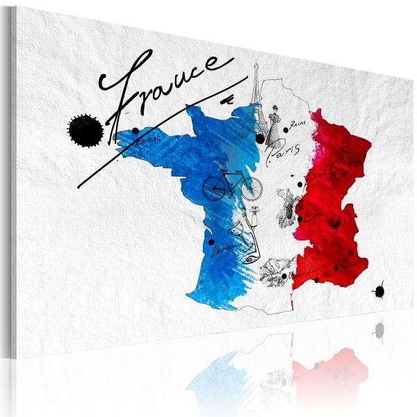 Obraz - Witamy we Francji! (60x40 cm) A0-N2162