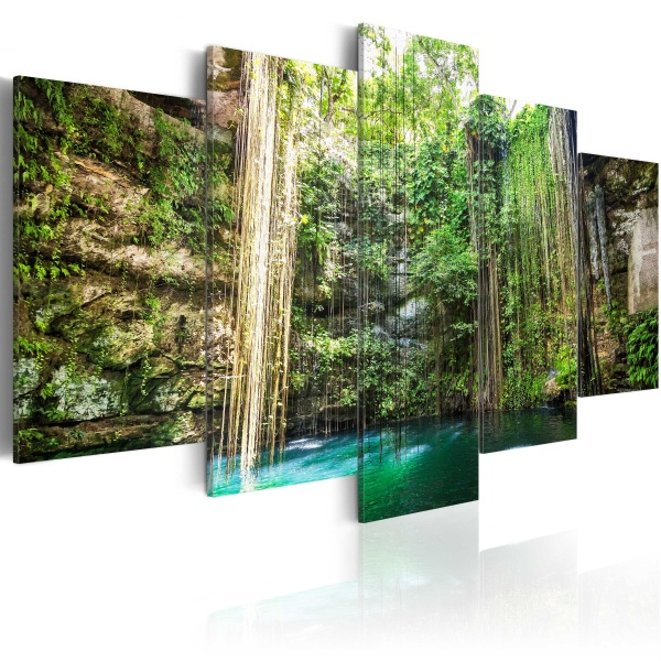 Obraz - Wodospad drzew (100x50 cm) A0-N3764