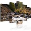 Obraz - Wodospad pośrodku dzikiej natury A0-N1465