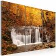 Obraz - Wodospad wśród jesiennych drzew A0-N1474