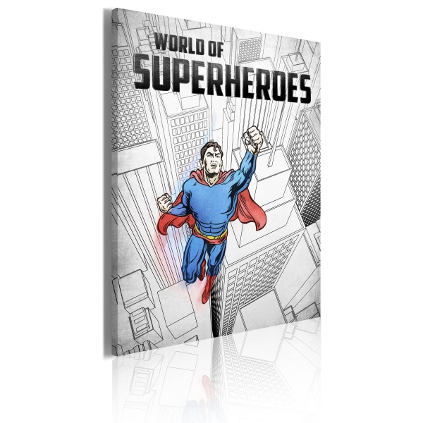 Obraz - World of superheroes (50x70 cm) A0-OBRPLK28