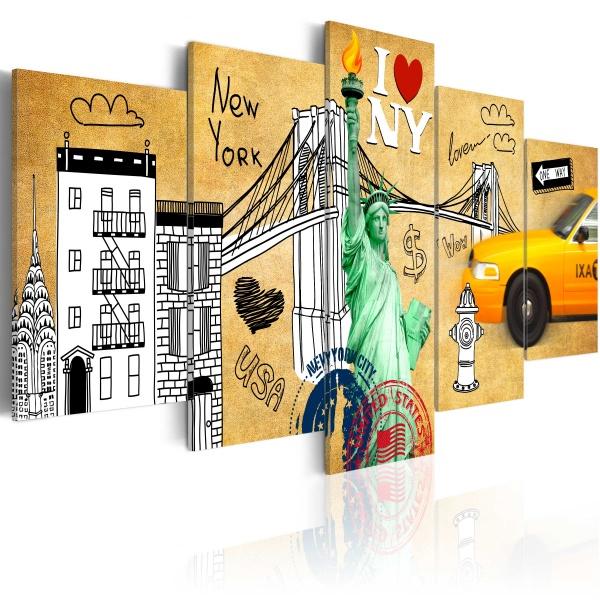 Obraz - Z miłości do Nowego Jorku (100x50 cm) A0-N3112