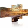 Obraz - Zachód słońca nad morzem A0-N1390