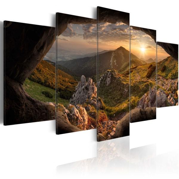 Obraz - Zachód słońca w dolinie (100x50 cm) A0-N3725