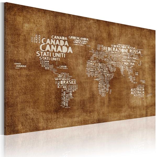Obraz - Zaginiona mapa (60x40 cm) A0-N2202
