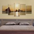 Obraz - Żaglówki o zachodzie słońca A0-N1555