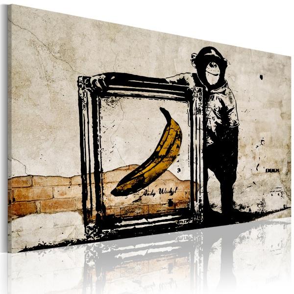 Obraz - Zainspirowane Banksym - sepia (60x40 cm) A0-N2923