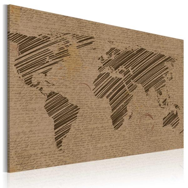 Obraz - Zapiski ze świata (60x40 cm) A0-N2039