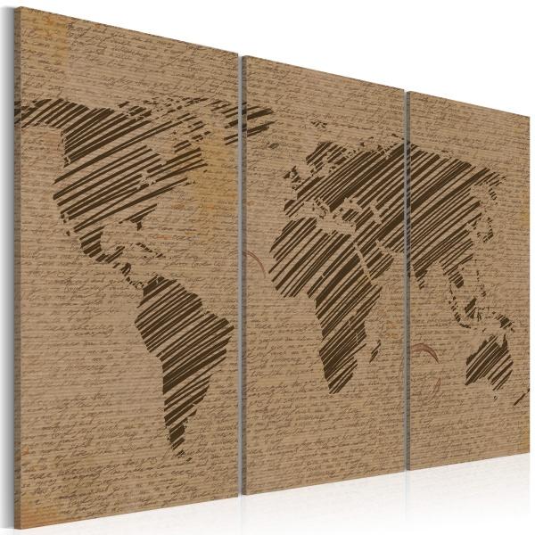 Obraz - Zapiski ze świata - tryptyk (60x40 cm) A0-N2058