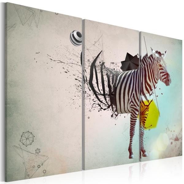 Obraz - zebra - abstrakcja (60x40 cm) A0-N2345