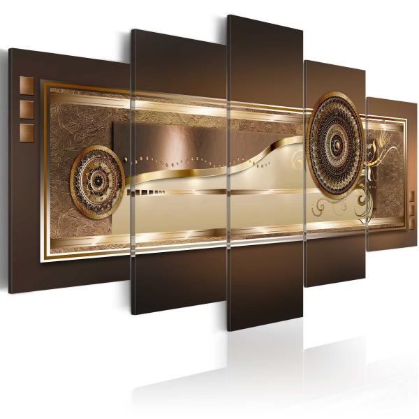 Obraz - Złote meandry (100x50 cm) A0-N2991