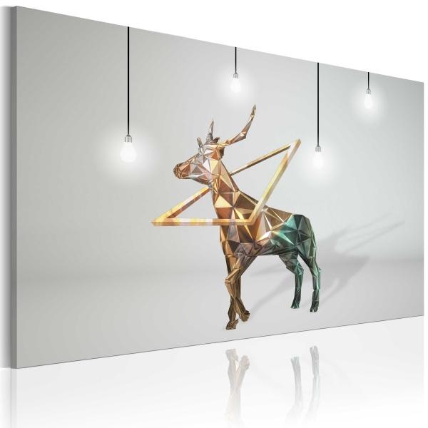Obraz - Złoty jeleń (60x40 cm) A0-N2397