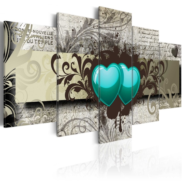 Obraz - Zmrożone serca (100x50 cm) A0-N2970