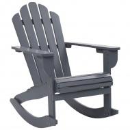 Ogrodowy fotel bujany, drewniany, szary