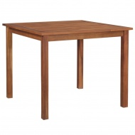 Ogrodowy stół jadalniany, lite drewno akacjowe, 90x90x74 cm