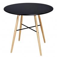 Okrągły stół z płyty MDF, czarny