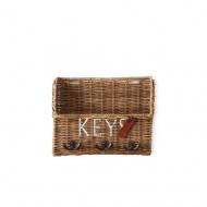 Organizer na klucze Rustic Rattan Keys Organiser 9x22x27 cm Riviera Maison
