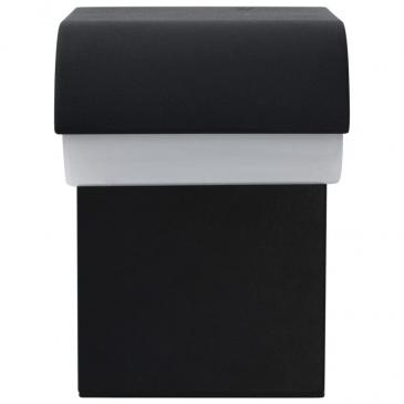 Oświetlenie ścienne zewnętrzne LED, 9 W, czarne, owalne